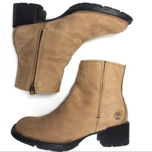 Timberland Nubuck Leather Ankle Booties